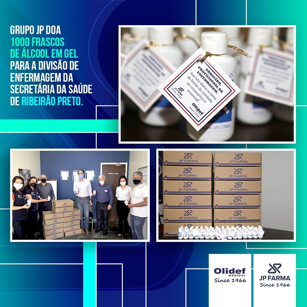 Grupo JP doa álcool gel